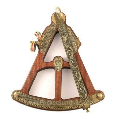 this one is at first so basic yet so ornate for a sextant...