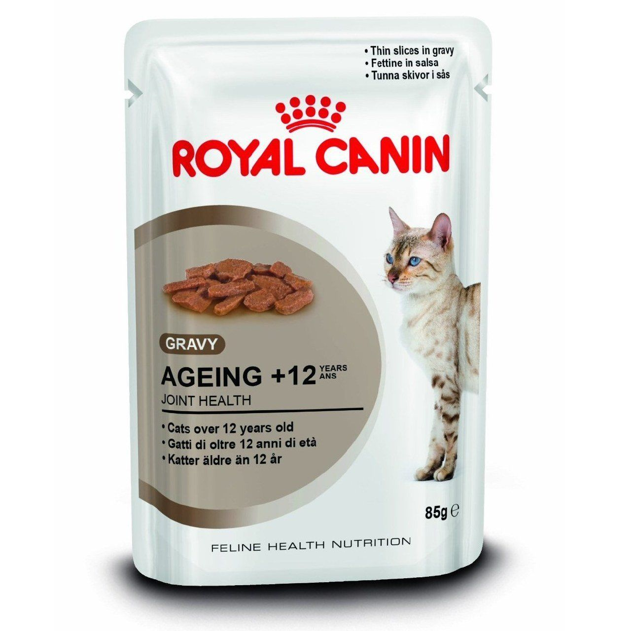Royal Canin 12 X 85g Ageing 12 Cat Food In Gravy Undefined Cat Food Allergy Feline Health Cat Food Bowl