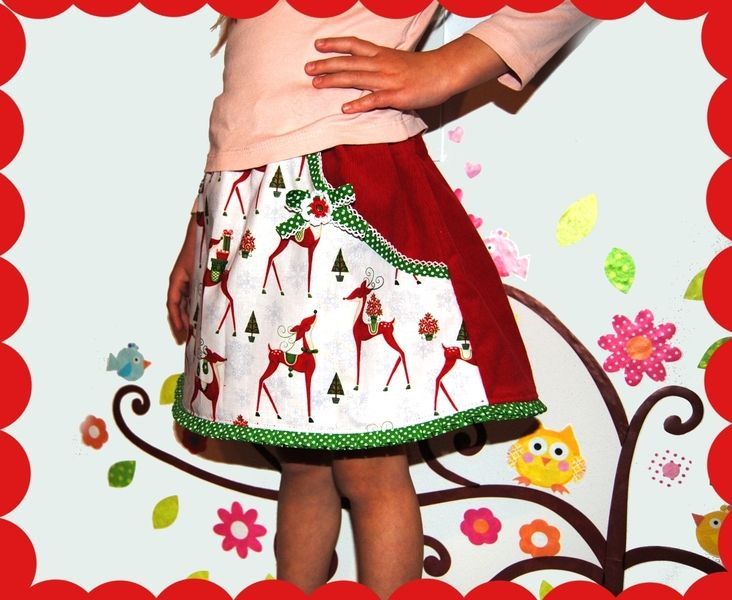 sweety reindeer skirt from krabbelkee collection by Feenland on DaWanda.com