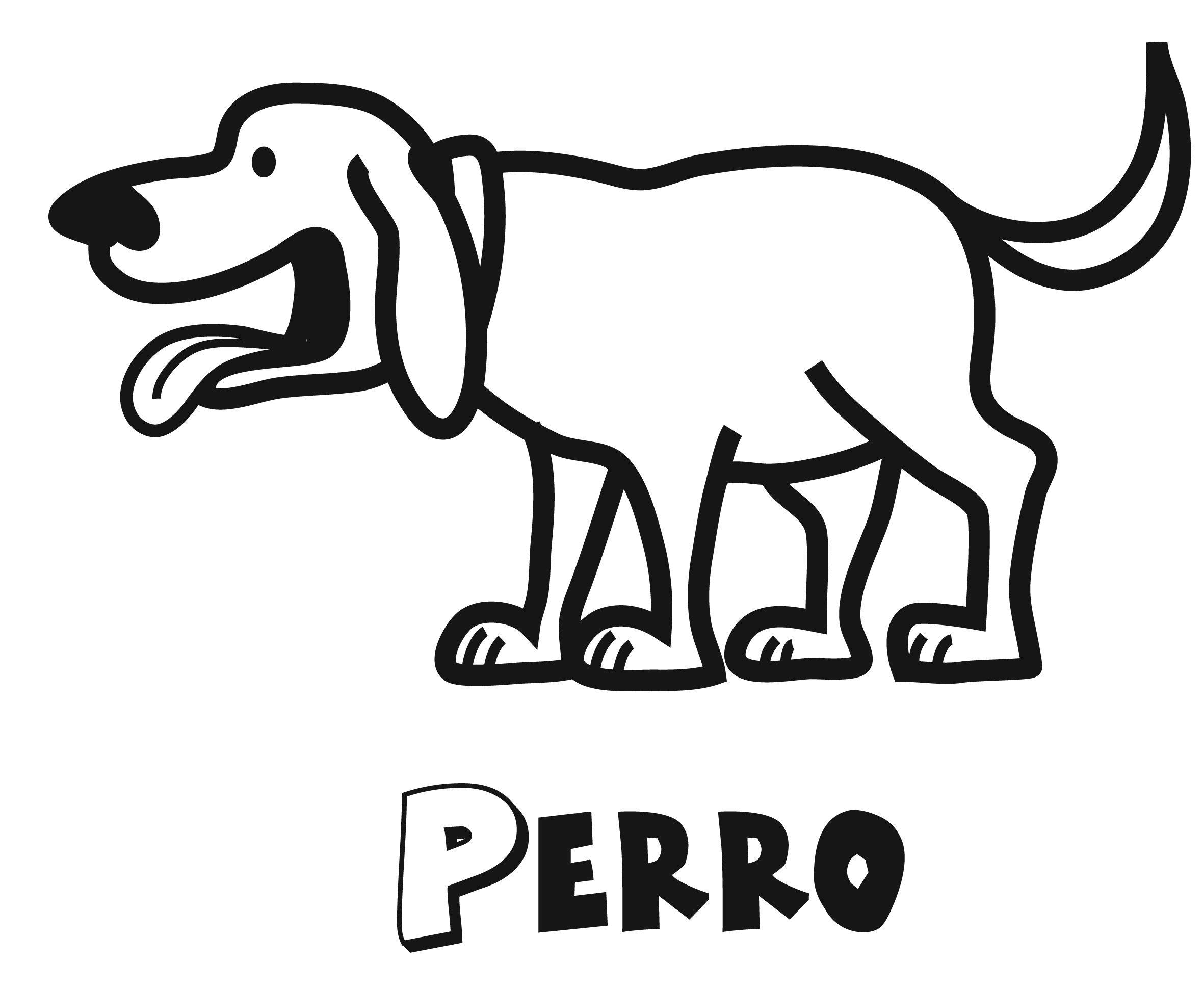 Encantador Perro Para Colorear Para Colorear Composición - Ideas ...