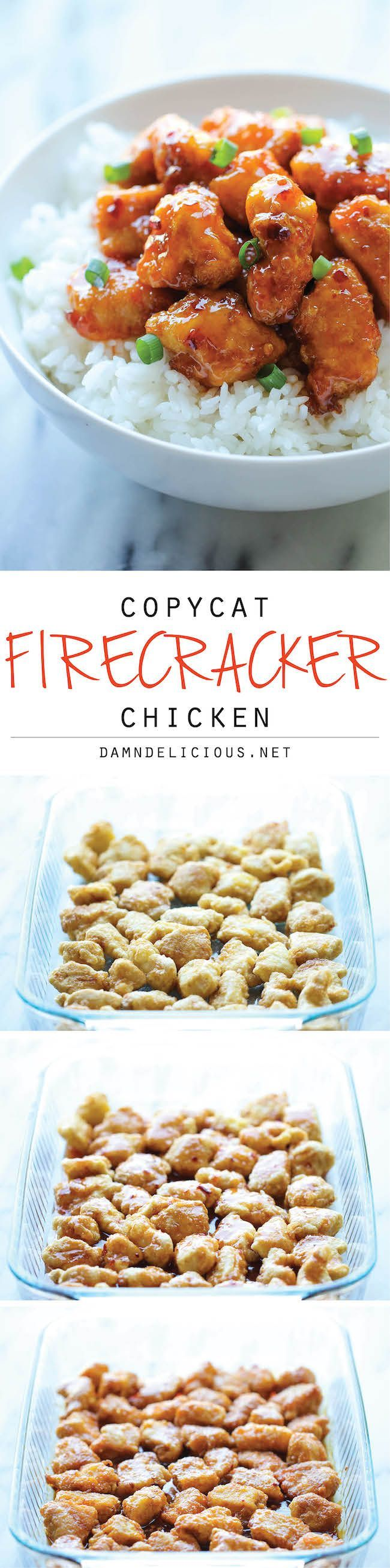 Chicken Firecracker Chicken - The most amazing combination of sweet and spicy flavors that tastes a million times better than take-out!Firecracker Chicken - The most amazing combination of sweet and spicy flavors that tastes a million times better than take-out!