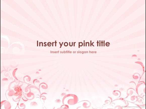 download pink powerpoint template for free 10 unique slides in clean and fashionable style