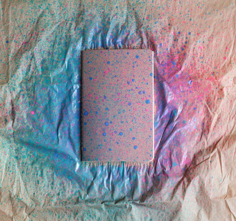 Paint Splattered Notebooks | The Crafted Life