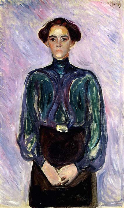 Edvard Munch, «Fru Schwarz» | Kunstideer, Kunstner, Artister