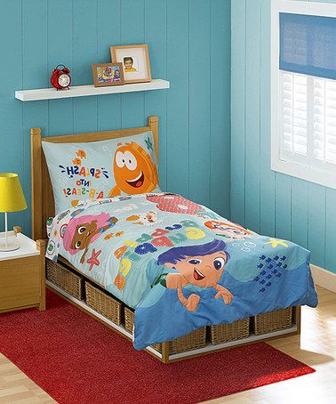 This Bubble Guppies B Is For Bubble Bedding Set By Bubble Guppies Is Perfect Zulilyfinds Dormitorios Dormitorios Ninos Ninos