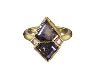 Brooke Gregson | Natural Diamond Slice Ziggurat Shield Ring in Designers Brooke Gregson Rings at TWISTonline