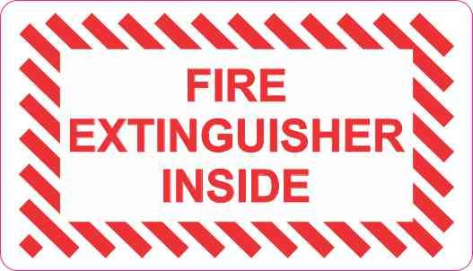 3 5in X 2in Fire Extinguisher Inside Decal Vinyl Stickers Sign Sticker Fire Extinguisher Stickers Lettering