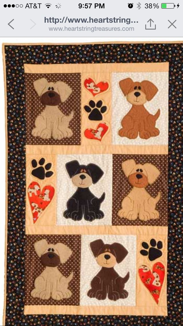 Puppy Quilt Quilting Ideas Pinterest Quilts Dog Quilts And