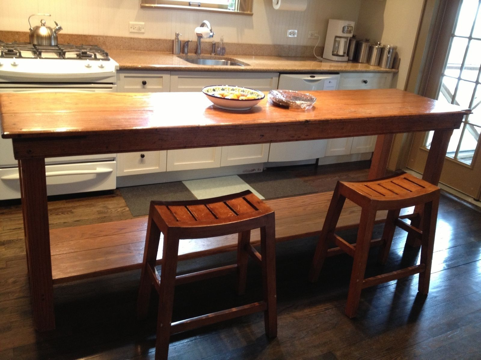 Tall Kitchen Table In 2020 Narrow Dining Tables Tall Kitchen