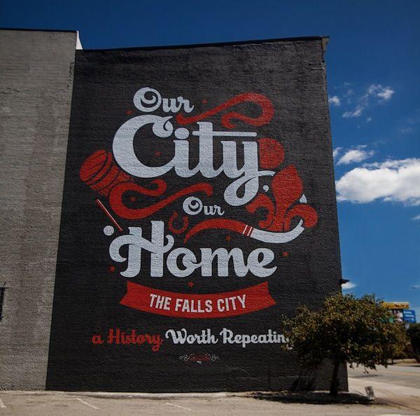 Bold, Large-Scale Typographic Street Murals Brighten Up Neighborhoods