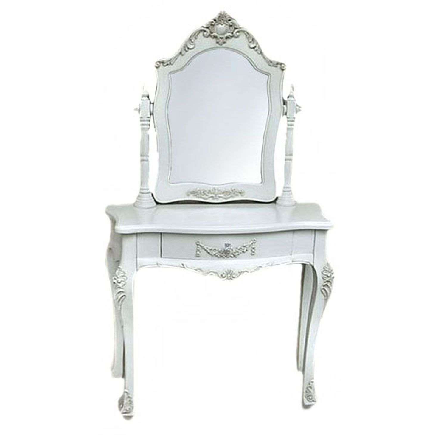 Best Small Dressing Table Pure White Achica French Style 640 x 480