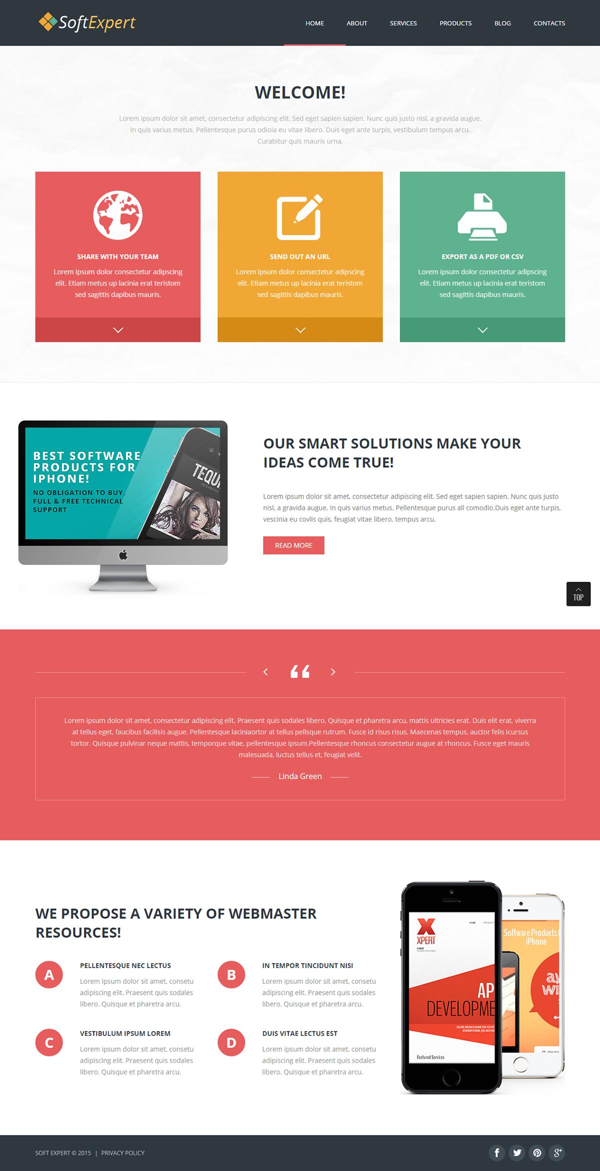 Software Development Joomla Template | Joomla Templates | Pinterest ...