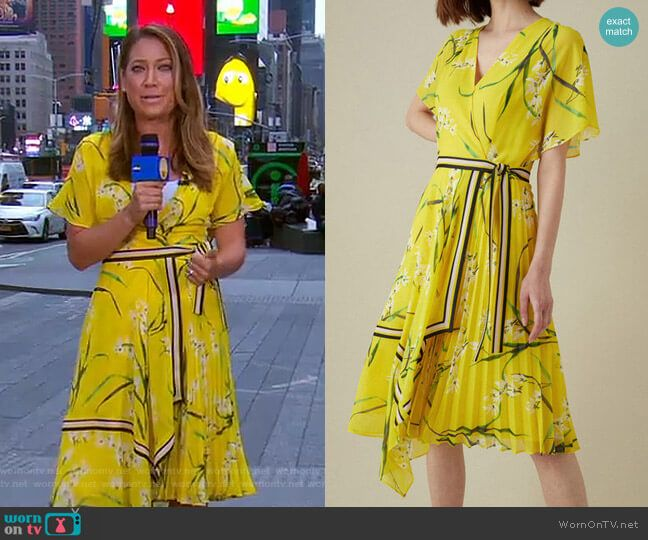 Ginger's Yellow Floral Dress On Good Morning America