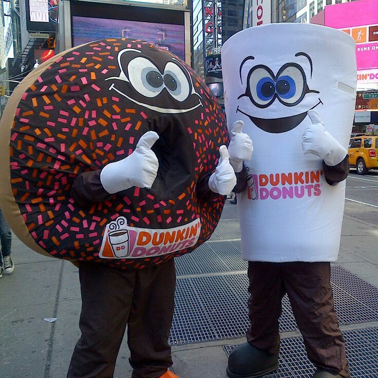 Pin by Evelyn Gonzalez on Mascots Dunkin donuts, Coffee