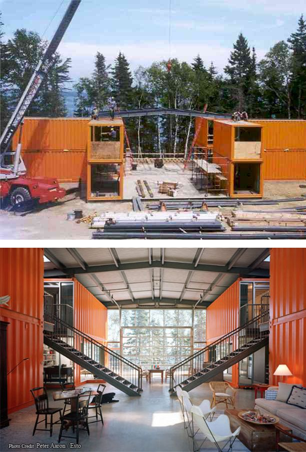 Amazing house made out of shipping containers!!! such a great material  resource