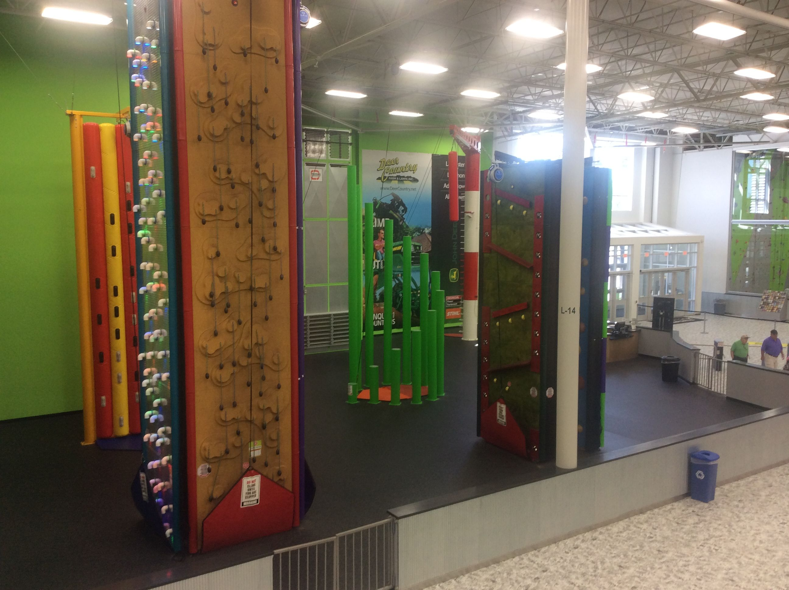 A Zoomed In View Of The Clip And Climb Spooky Nook Sports Spooky Nook Old Warehouse