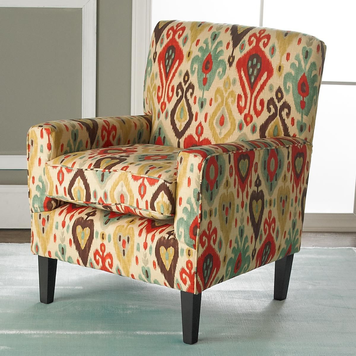 Best Colorful Ikat Arm Chair The Popular Style Of Ikat Gets An 400 x 300