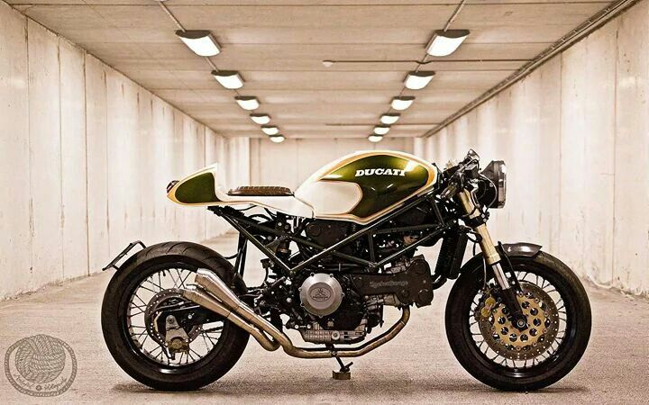 Ducati Monster Green Machine Cafe Racer #motorcycles #caferacer
