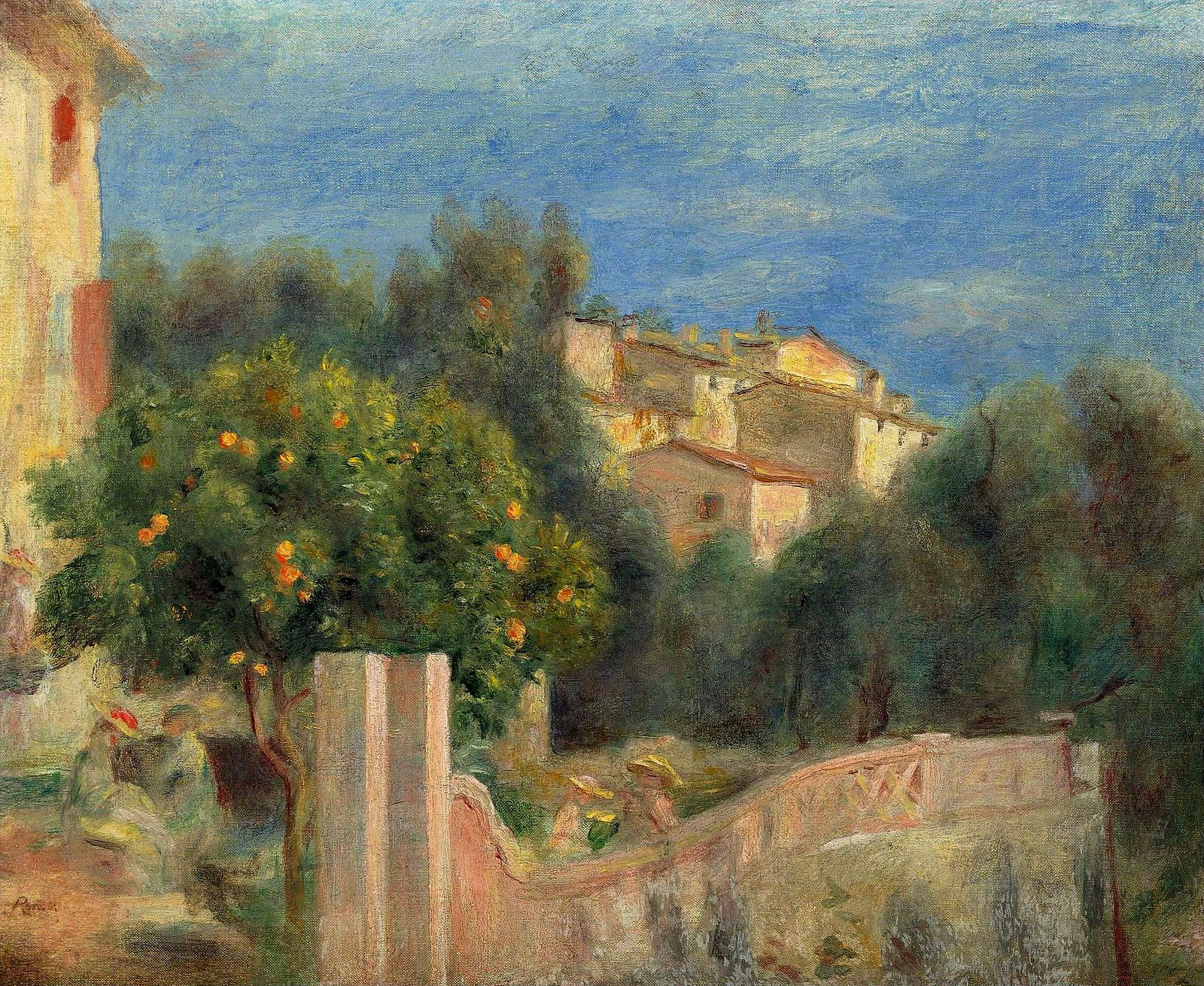 The Artist`s House in Cagnes. Pierre Auguste Renoir