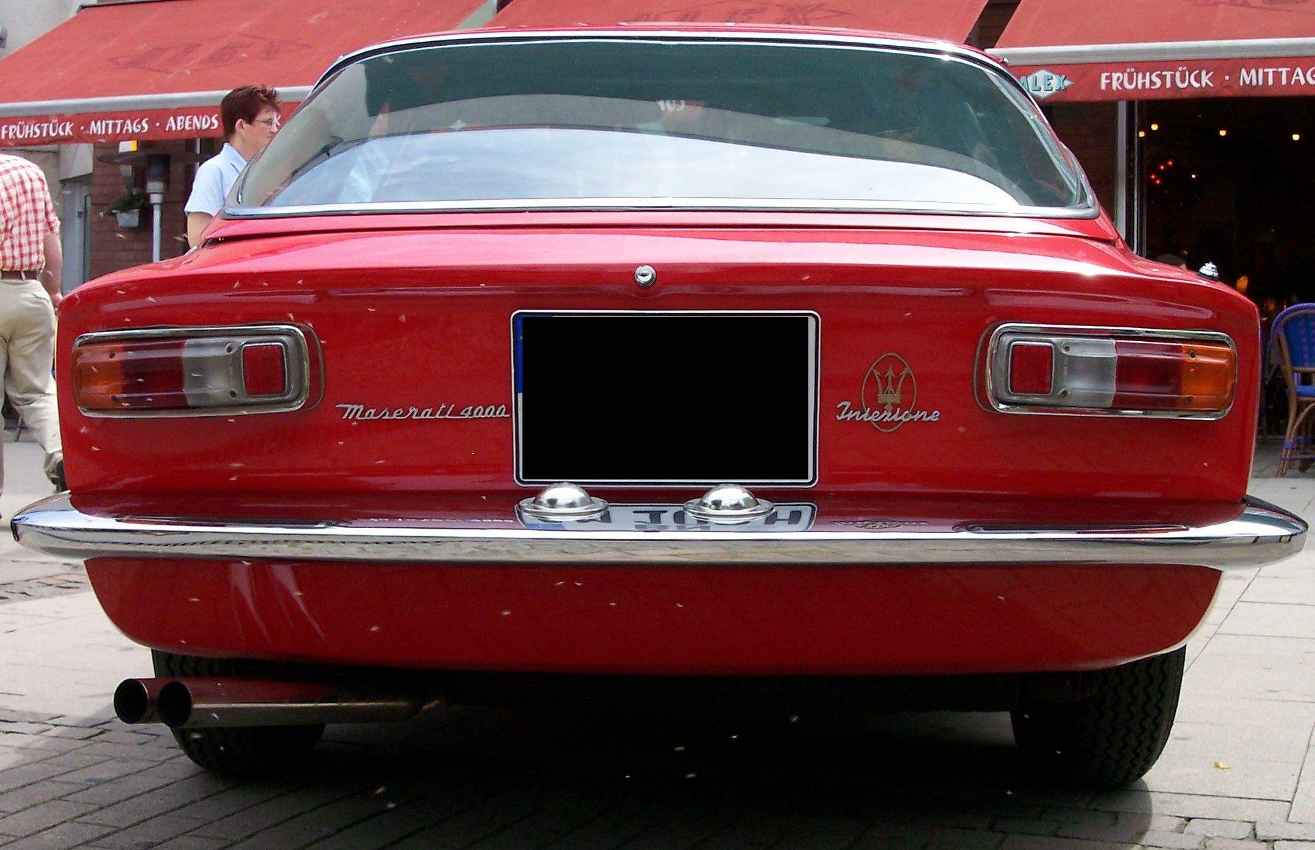 1968 Maserati Mistral 4000 Coupe (Frua)   MASERATI ...