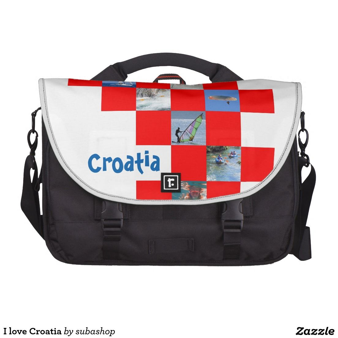 Croatia, Kroatie, gadgets, produkten, souvenirs, I love Croatia, bag, schoolbag,I love Croatia Tassen Voor Laptops, satchel