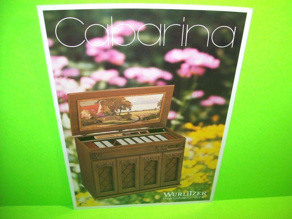 Wurlitzer CABARINA Original Jukebox Music Phonograph Promo