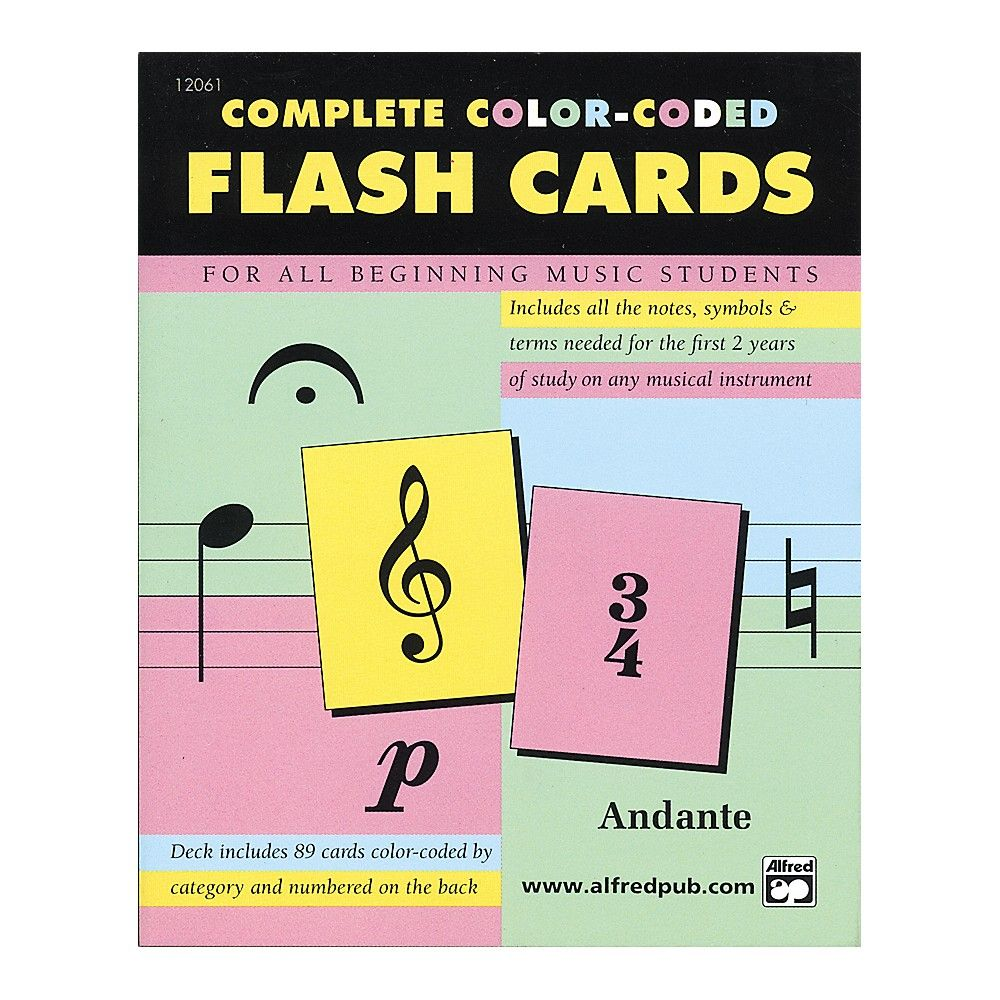 Alfred flash cards coding cards music lessons