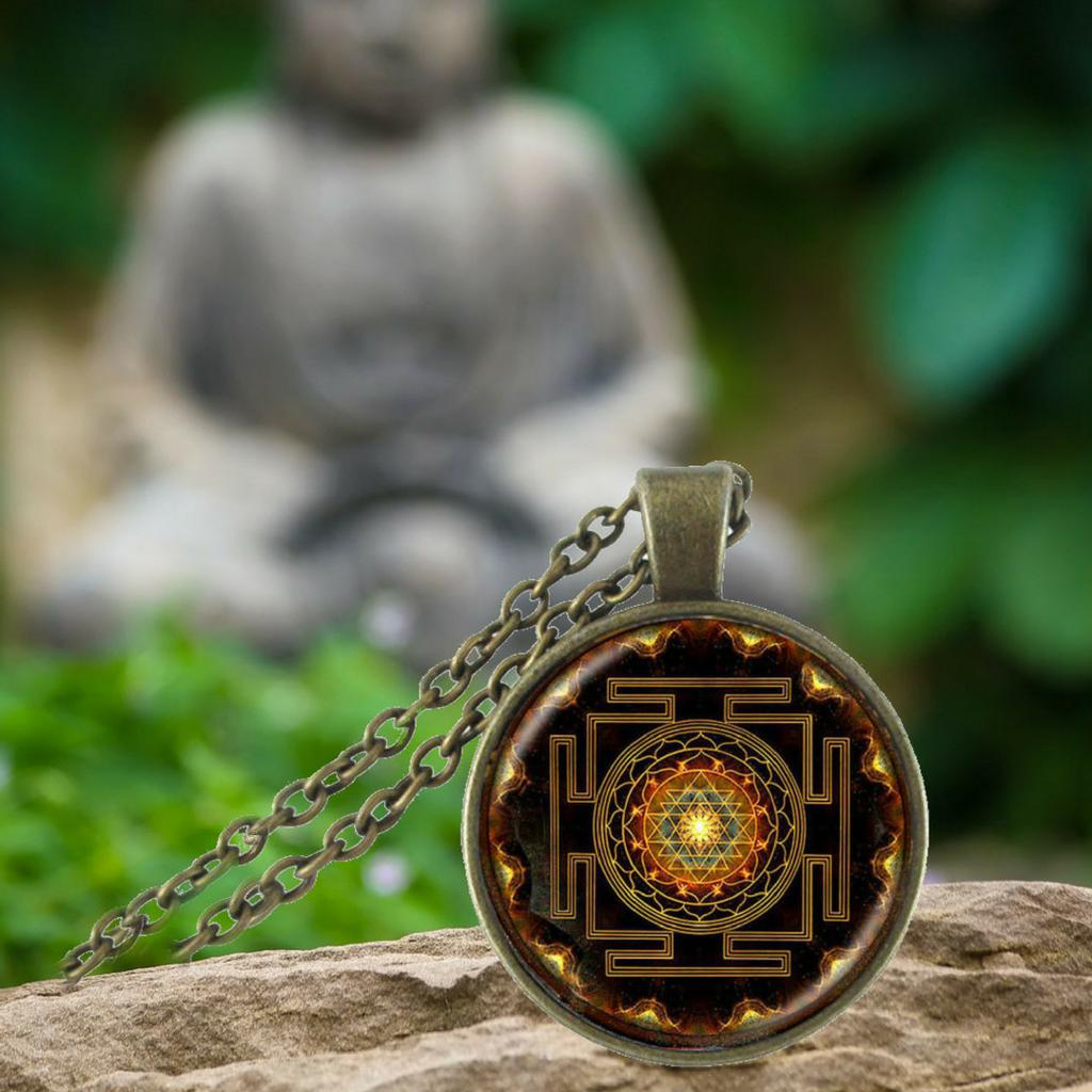 Sacred sri yantra necklace pendant sri yantra sacred sri yantra necklace pendant project yourself mozeypictures Choice Image