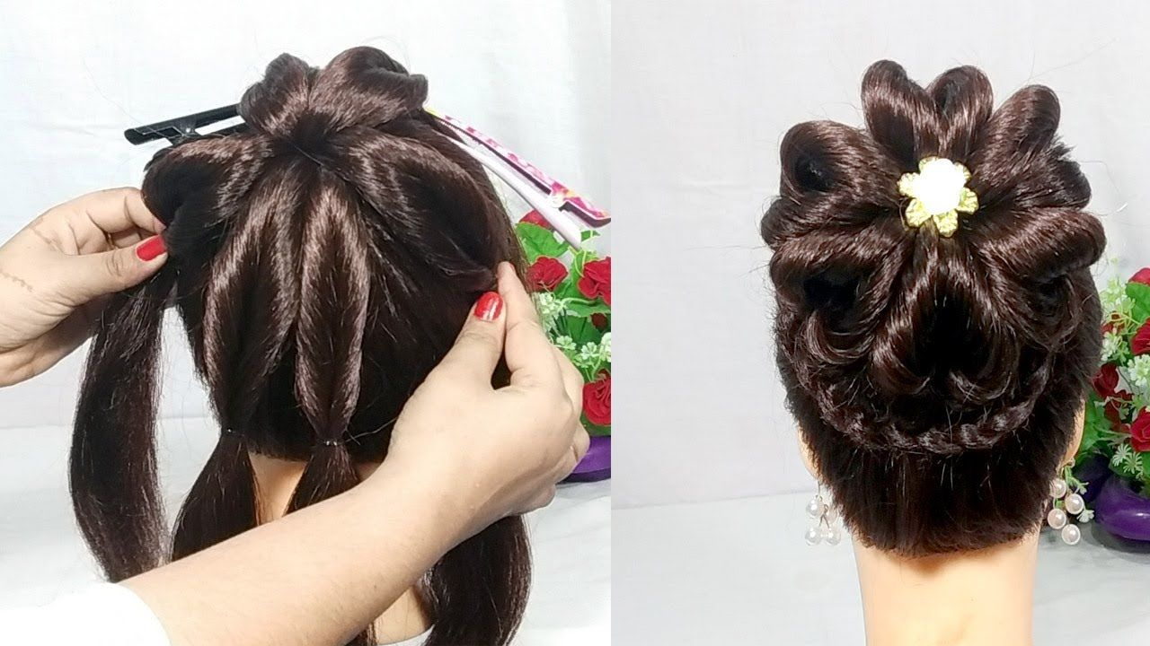Heart Bun Hairstyles With Trick Wedding Hairstyle Hair Style