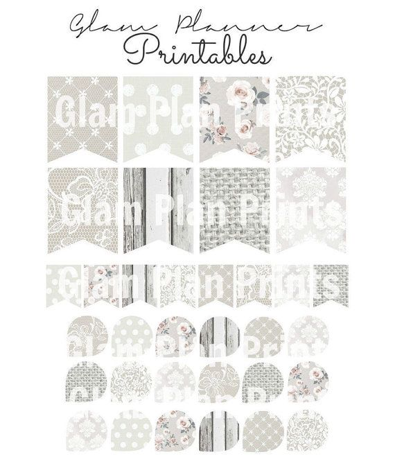White Bridal PRINTABLE Glam Planner: Flags and by GlamPlanPrints