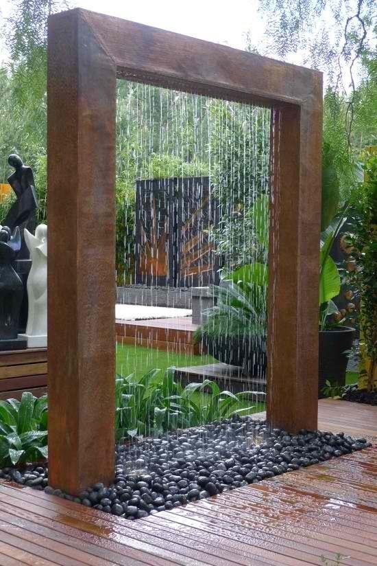 Ducha Y Fuente Doble Utilidad Fuentes Para Jardin Jardines Diseno De Jardin