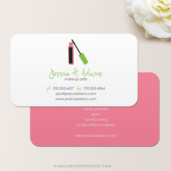 Makeup artist business card calling card mommy card contact makeup artist business card calling card mommy card malloryhopedesignsy reheart Images