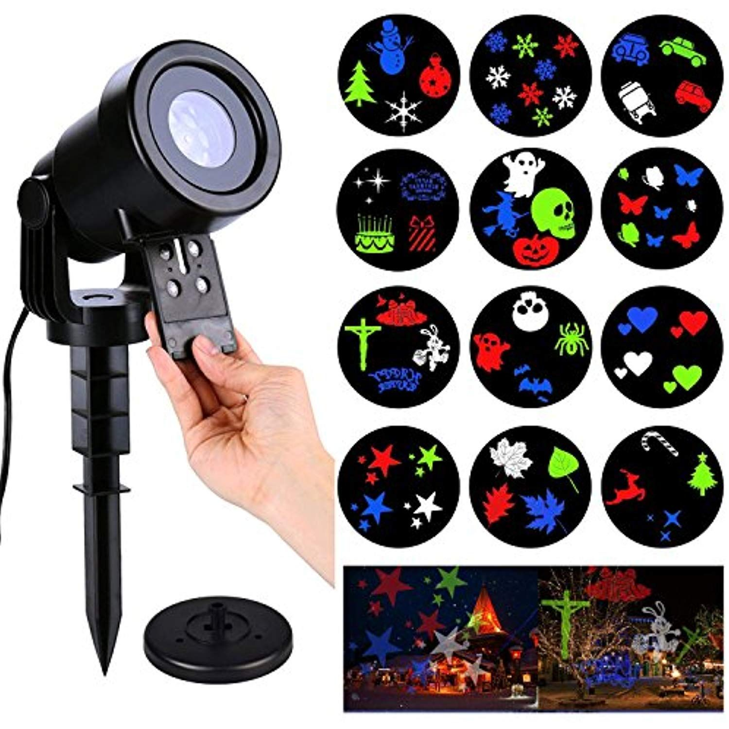 Christmas led projector lightsholiday light with 12