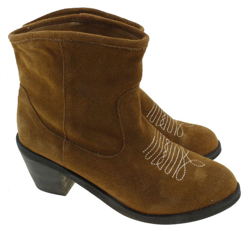 305ddb76483 Skechers Aloft-Tex Mex Womens Tan Western Ankle Boots 48261 Size 8.5 ...