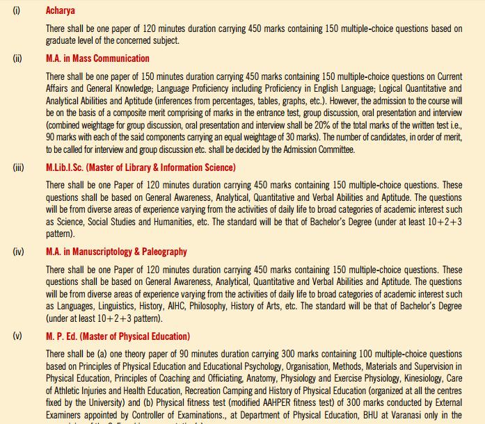 Bhu Pet Syllabus 2016 Download Exam Pattern Www Bhuonline In Exam Syllabus Exam Results