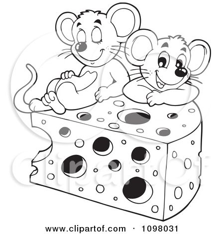 Mouse With Cheese Image Coloring Pages Minnie Mouse Drawing Mouse Crafts