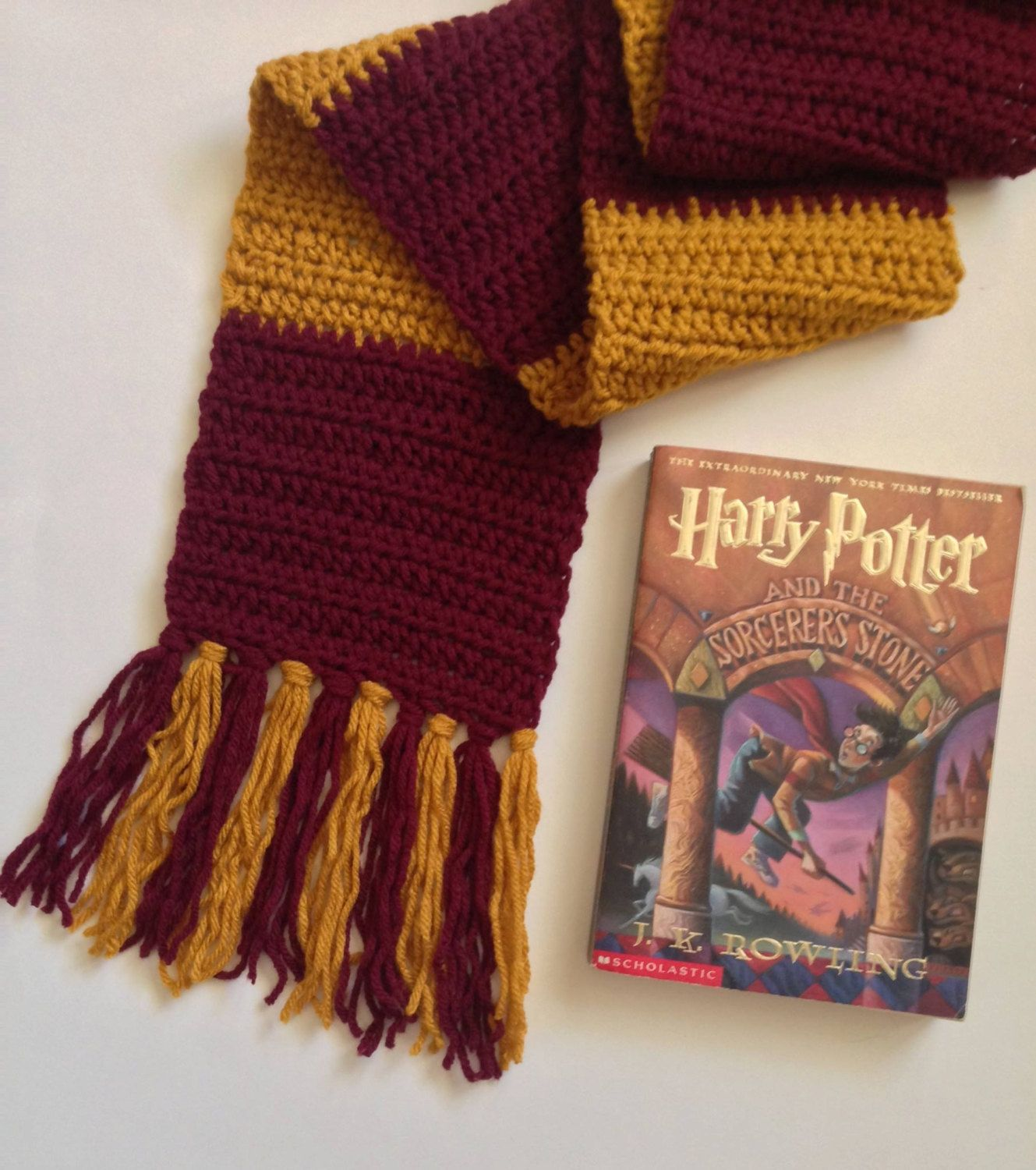 Harry Potter Striped Scarf by LebanonMadHatter on Etsy | Etsy ...