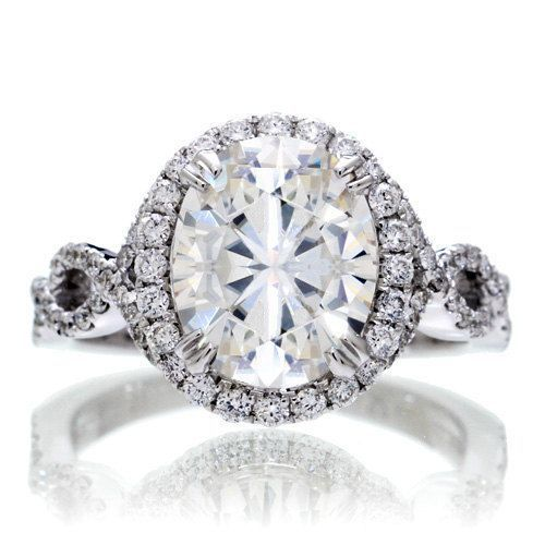 Knockoff Katie Holmes Inspired Engagement Ring Replica White