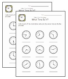 Time and clock worksheets...some with blank clock faces