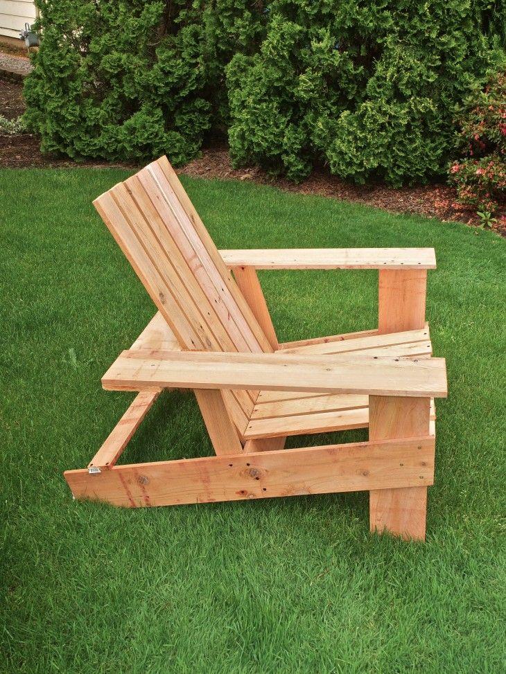 Elegant Easy, Economical DIY Adirondack Chairs: $10, 8 Steps, 2 Hours