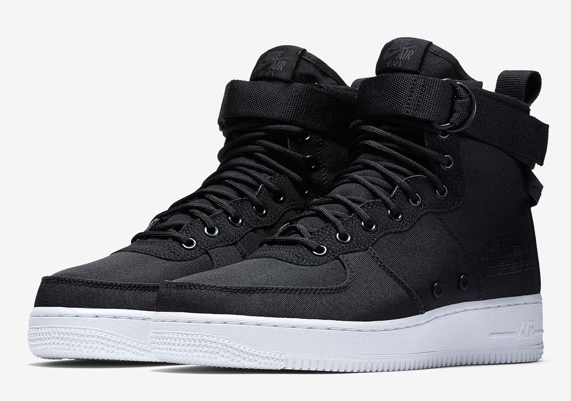 Nike SF-AF1 Mid Arrives In Black Nylon And White