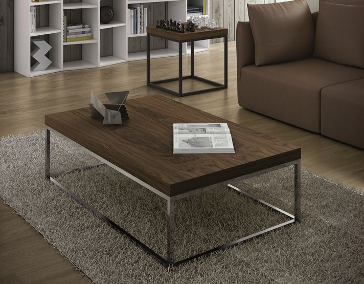 Temahome Prairie Rectangular Walnut Coffee Table, Choice Of Leg Frame