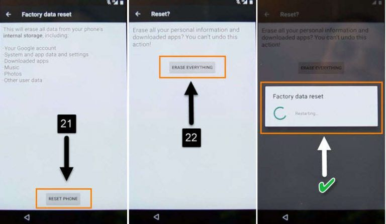how to factory reset motorola phone when locked out