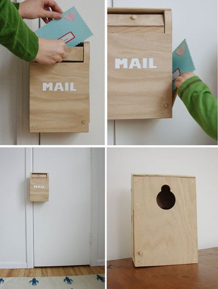 Vintage-Inspired Wooden Toy Mailbox...