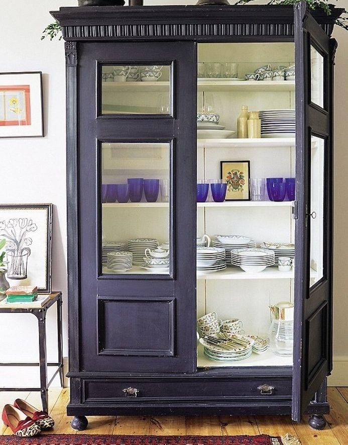 ▷ 1001 + idées comment peindre un meuble ancien Purple kitchen - Moderniser Un Meuble Ancien