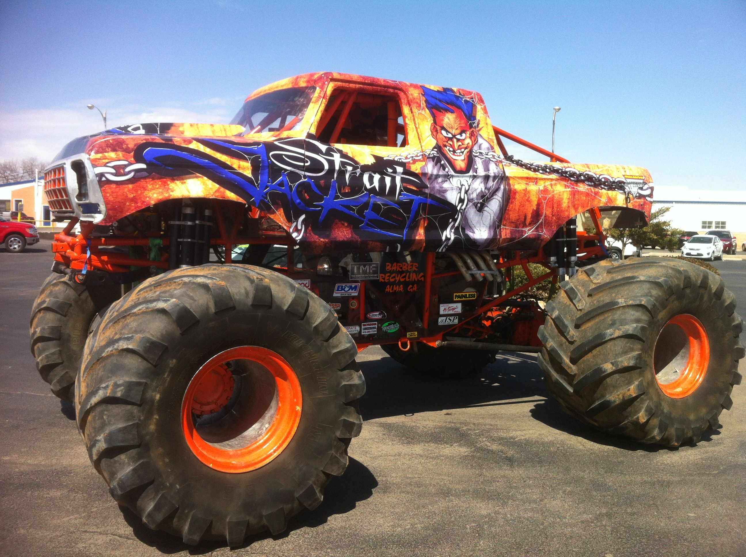Straight Jacket monster truck. Quite colorful and very ...