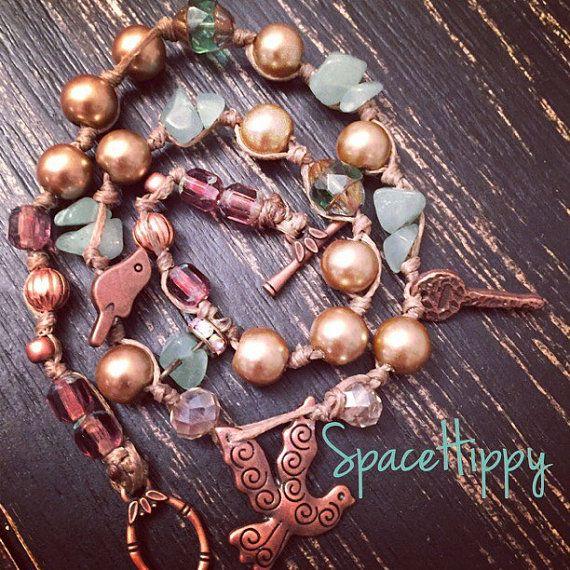 LuckyRaps(TM) Get Naked double wrap bracelet by SpaceHippy(TM)