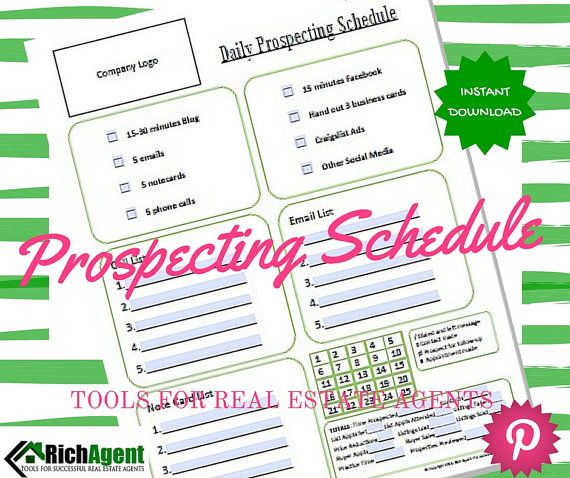 Daily Prospecting Schedule Tools For Real Estate Agents