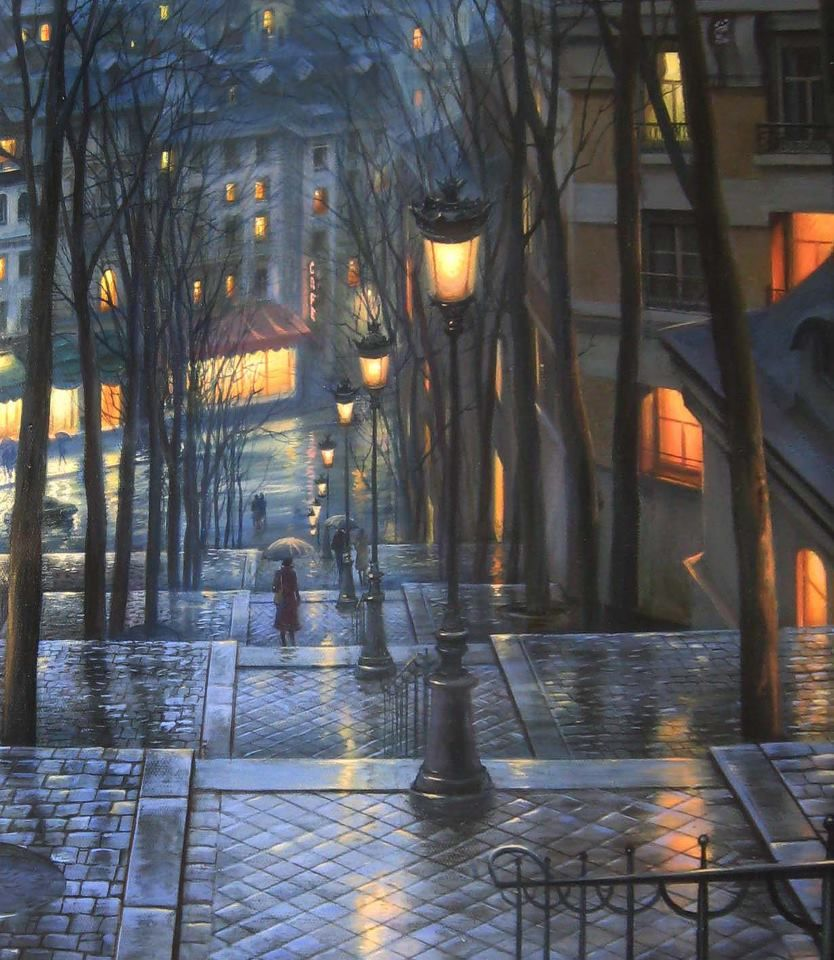 Evgeny Lushpin ~ Rendezvous on Rue Du Mont Cenis