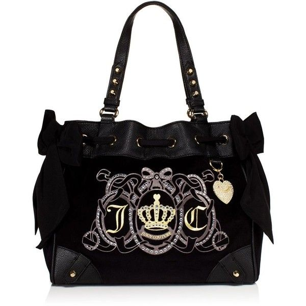 Juicy Couture Crest Velour Daydreamer Handbag 100